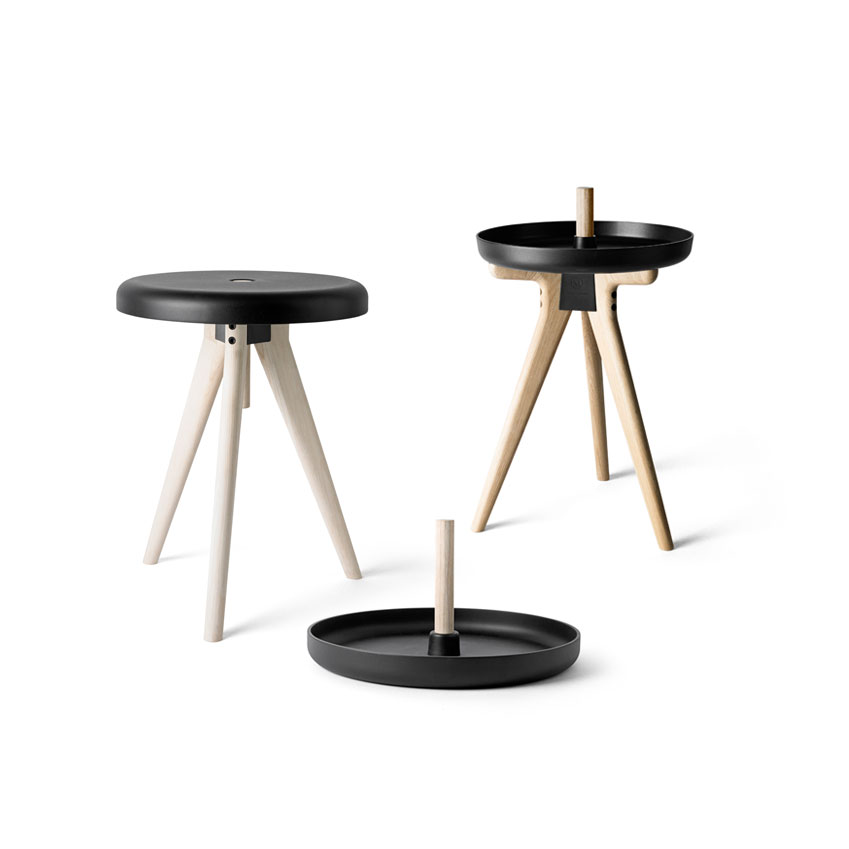 'Flip Around' tray-table-stool in light ash by Norm Architects for Menu, xxxxx