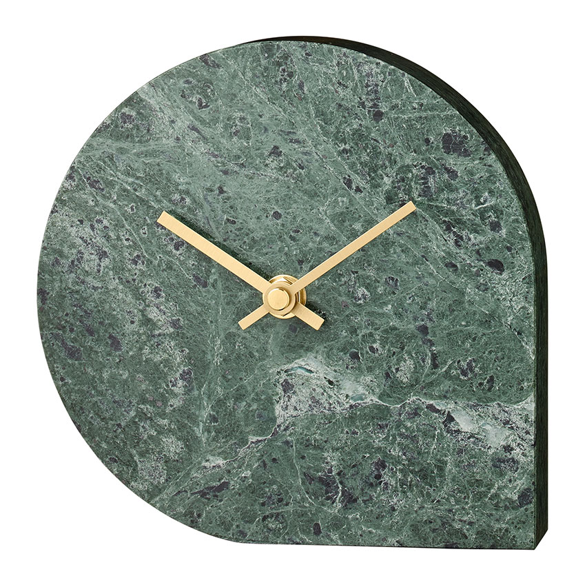 'Stilla' green marble wall clock by AYTM, £116, Amara