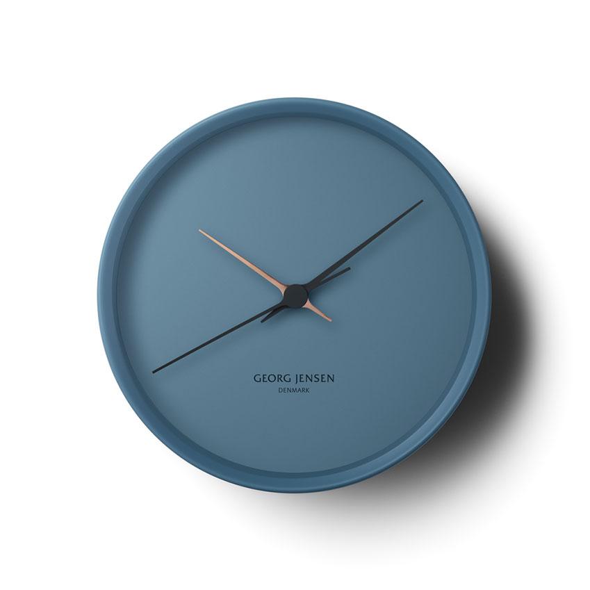 'Koppel' wall clock in blue, £250, Georg Jensen