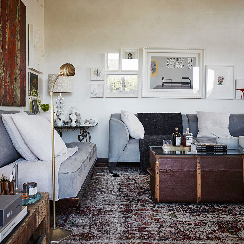 A rugged cottage in Cape Town with interiors inspired by the owners travels in Italy. First featured in ELLE Decoration Volume 10. Photography: Alexander van Berge/Frank Features; Production: Genneth Lyn