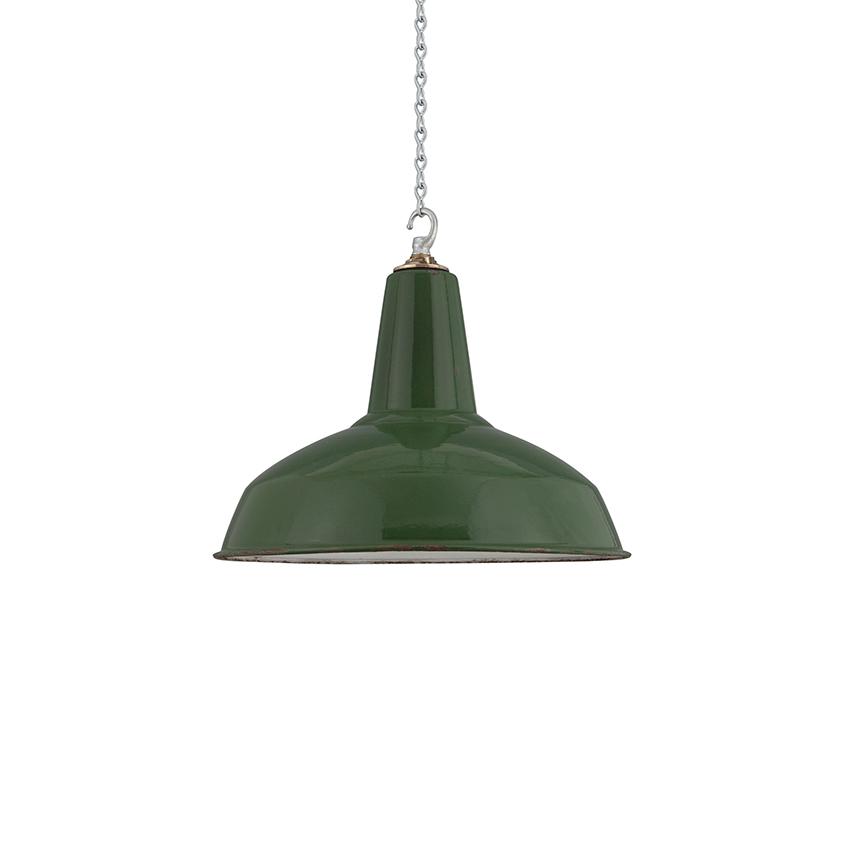 Reclaimed 1950s-designed 'Type X' pendant light by Benjamin, £270, Skinflint