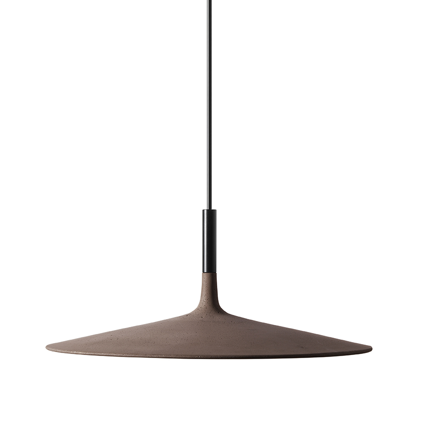 'Aplomb' large pendant lamp in brown by Lucidi Pevere for Foscarini, from £505, Aram Store