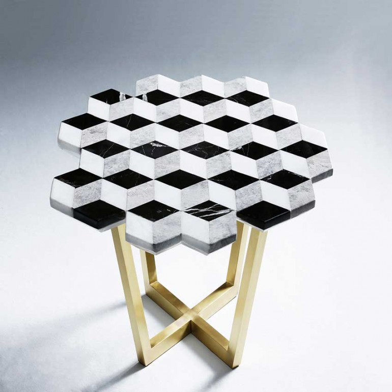 Marble Effect Coffee Table Uk: Marble Coffee Table By Merve Kahraman