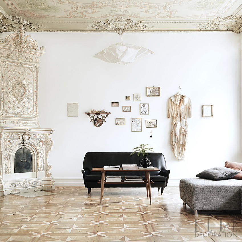 This 19th-century-apartment in Malmö, Sweden, features classic furniture that is displayed in casual clusters around the space<span>Photography: Petra Bindel  Production/Styling: Emma Persson Lagerberg/House of Pictures</span>