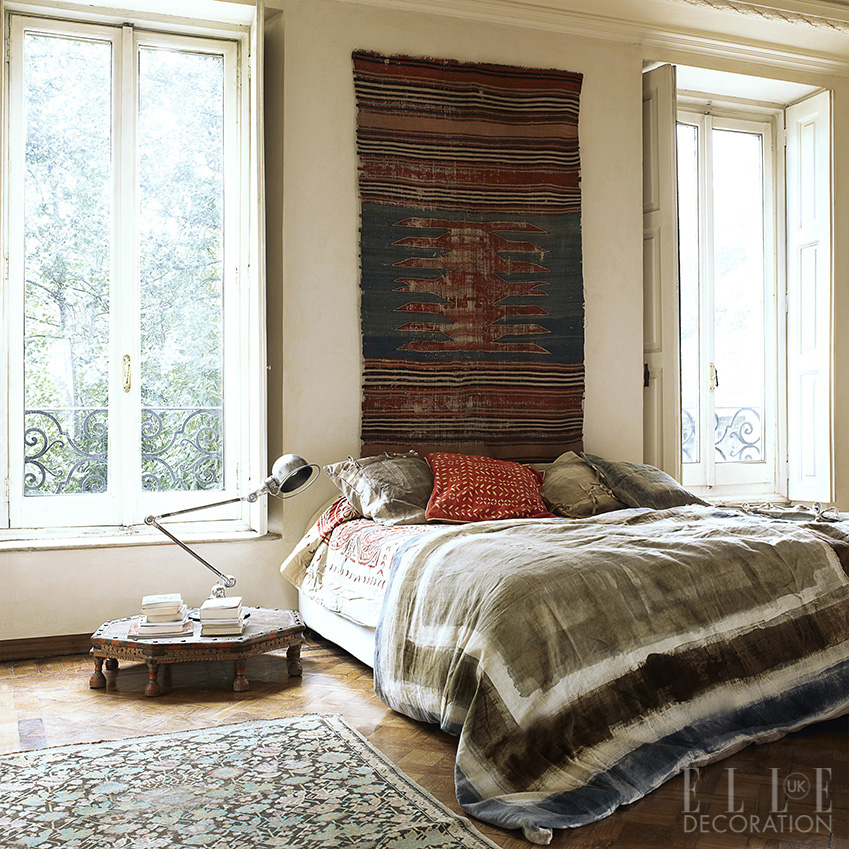 Pair kilim rugs, embroidered cushions and dipped-dyed throws for a relaxed bohemian vibe<span>Photography: Fabrizio Cicconi  Styling: Francesca Davoli/Living Inside