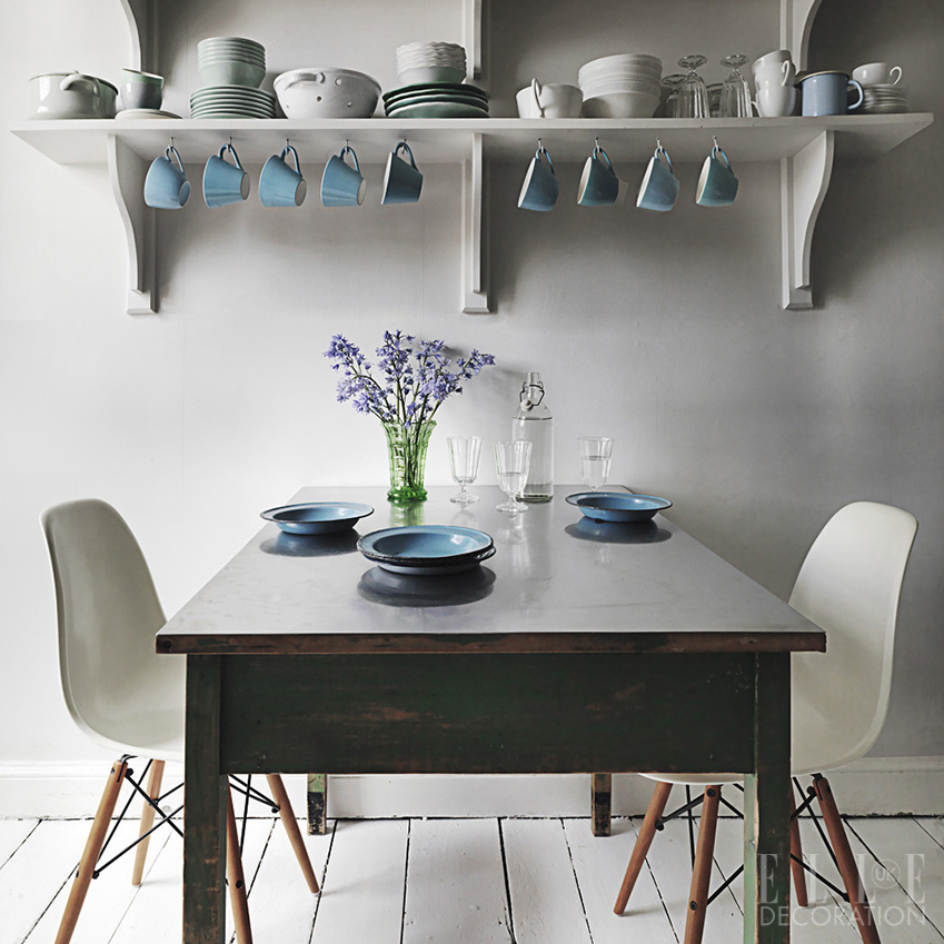 In this Bristol house, Eames 'DSW' chairs are paired with a reclaimed 1930s table in its original green paint<span>Photography: Michael Paul/Living Inside</span>