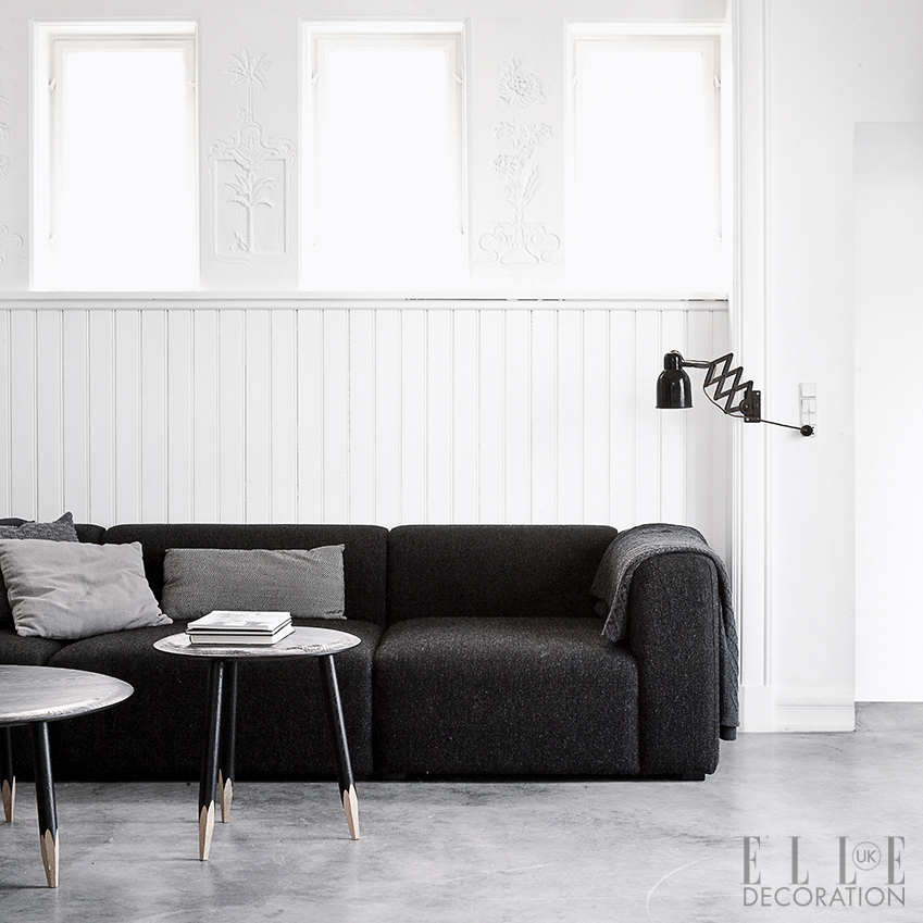 These eye-catching 'Hoof' tables by Samuel Wilkinson for &Tradition add a humorous twist to the scheme in this classical Copenhagen home. The sofa is by Hay (hay.dk)<span>Photography: Jonas Bjerre-Poulsen</span>