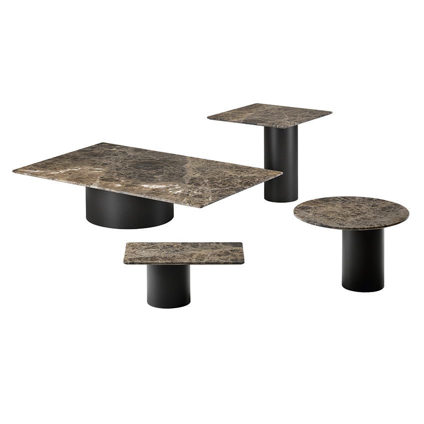 'Petra' marble, metal and sandstone tables by Bartoli Design, from £829, Arketipo (arketipo.com)