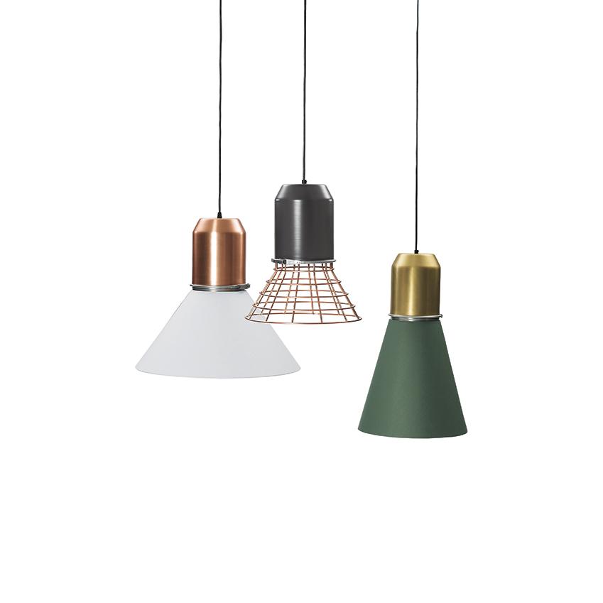 'Bell' metal and copper lights by Sebastian Herkner for Classicon, from £451, Aram (aram.co.uk)