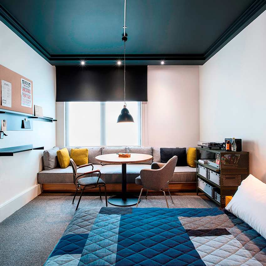 ace hotel by universal design studio the pared back industrial rooms in this