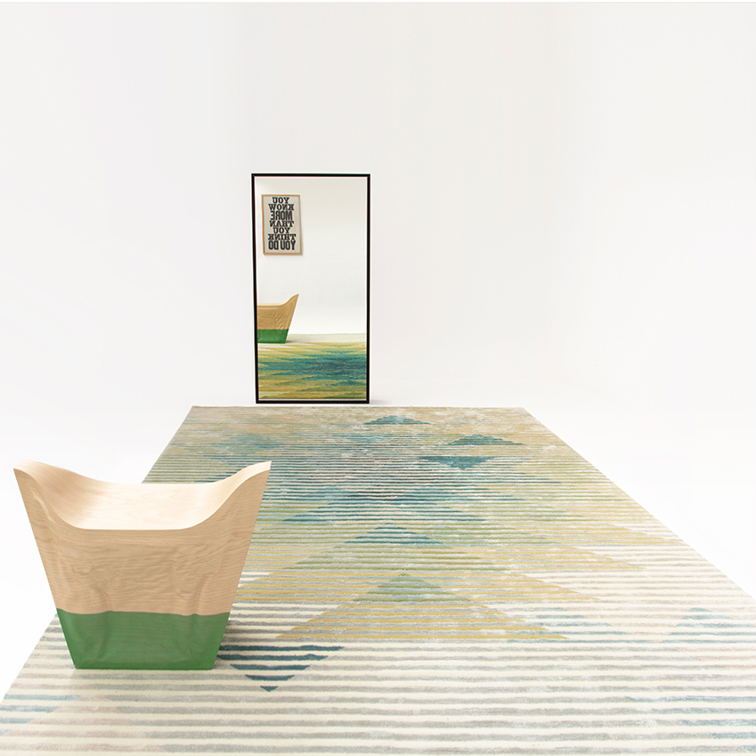 'Lake Collection' rug by Raw Edges, from £6,560, Golran (golran.com)