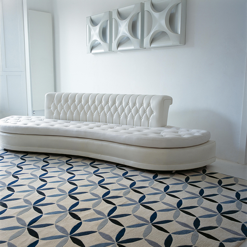 'Starflower Blue' rug by Edward Barber & Jay Osgerby, £835 per square metre, The Rug Company (therugcompany.com)