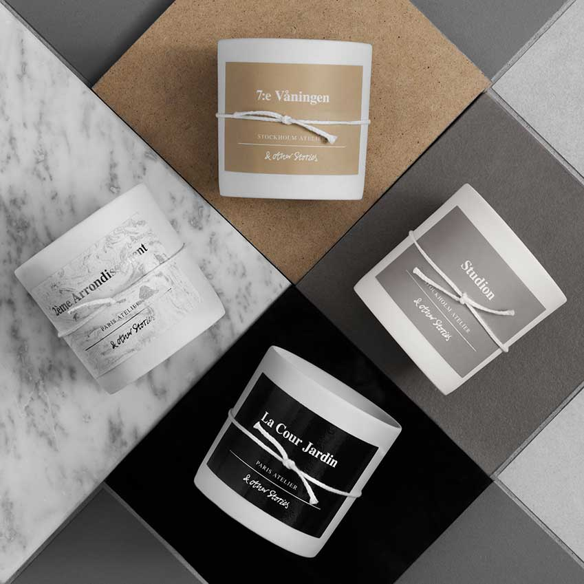 Fashion and lifestyle store & Other Stories has made its first foray into fragrance with a new collection of four scented candles. Created by New York perfumer Jérome Epinette of renowned fragrance specialist Robertet, each is inspired by a different space in the & Other Stories ateliers in Paris and Stockholm. 'La Cour Jardin', for instance, is a white floral based on the blooms in the company's courtyard garden on Paris's rue Saint-Honoré, while '7:e Våningen' is a smoky, suede-and-wood blend that evokes the atmosphere of the seventh-floor Stockholm studio where the brand's modern graphics come to life. £17 each (stories.com)