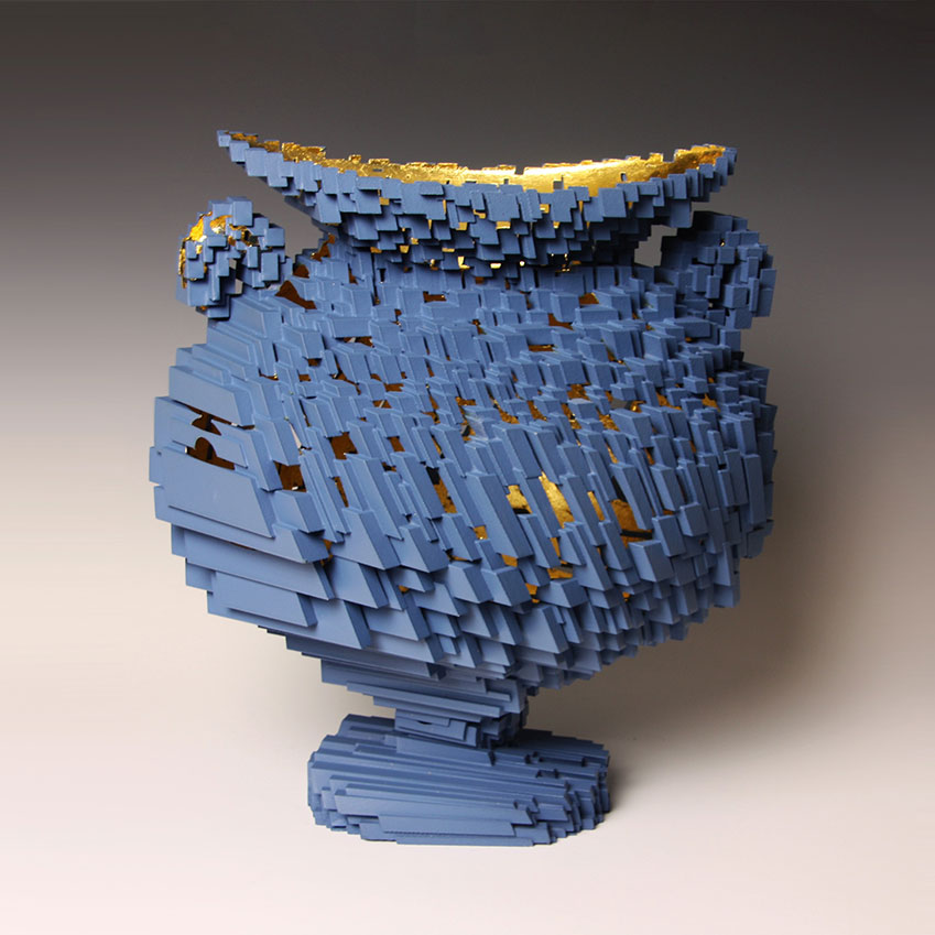 Michael Eden Voxel Vessel 2013. Image courtesy of Adrian Sassoon