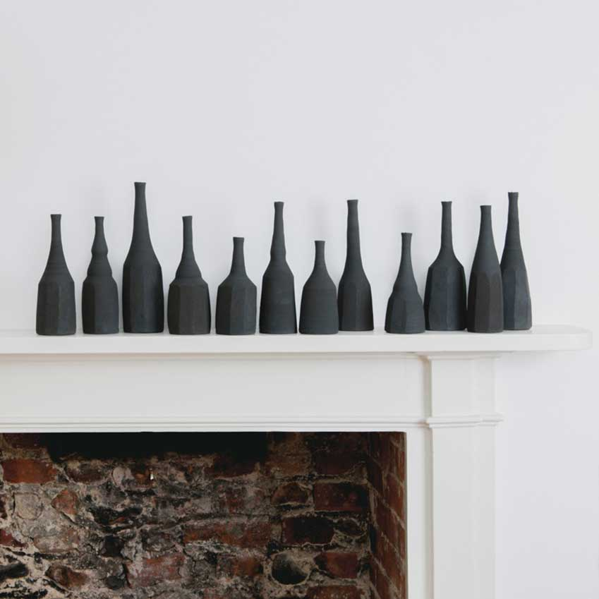 Black 'Still Life' vases by Akiko Hirai, from £60, The Cold Press (thecoldpress.com)