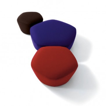 'Penta' poufs by Claesson Koivisto Rune for Arflex, from £1,047, Bianchi Furniture