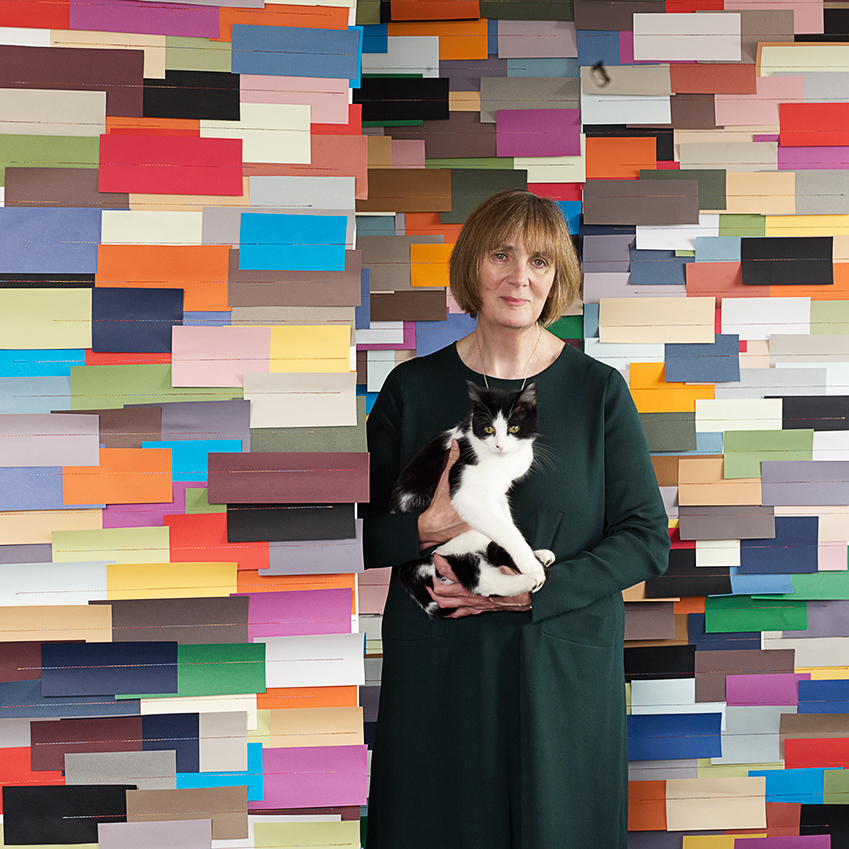 BEST BRITISH PATTERN: 'ANOTHER COLOUR' WALLCOVERING BY TRACY KENDALL – This design emerged as a worthy winner thanks to its originality and craftsmanship, which involves hand-cutting and stitching hundreds of squares of paper onto a wallpaper backing. 'I found that by having such a deluge of colour, the shades themselves made a natural pattern,' says Kendall  (tracykendall.com).