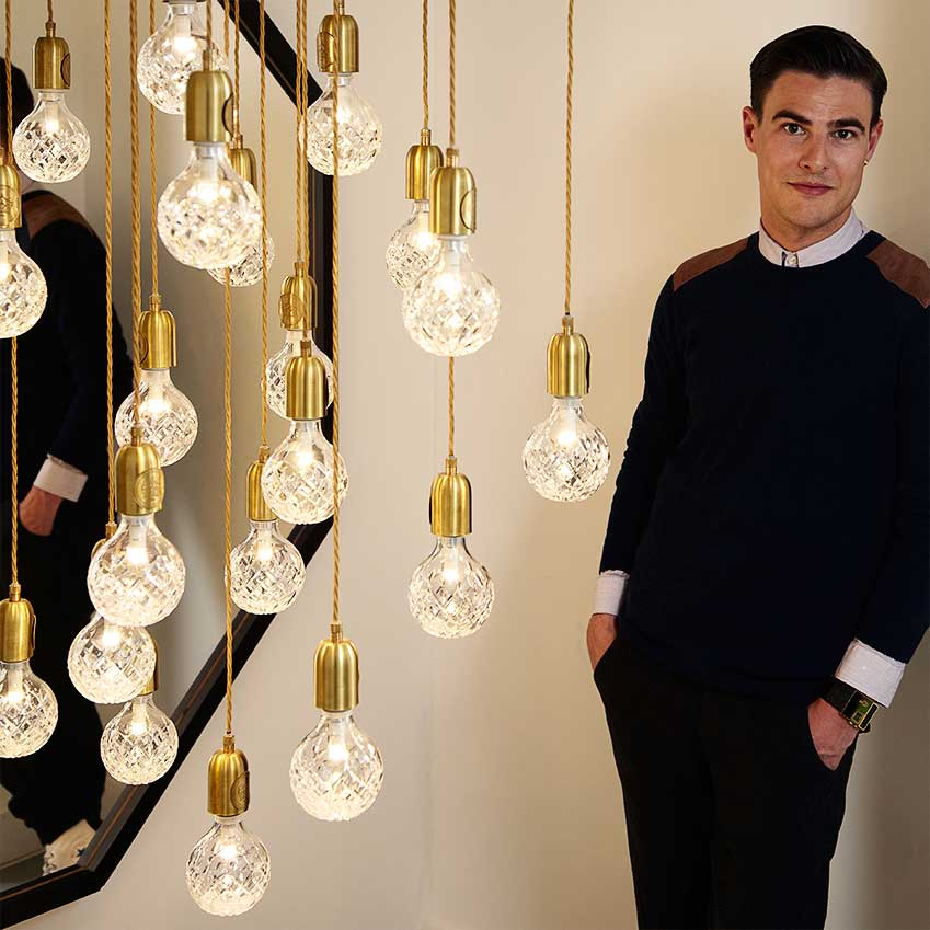 SIXTH PLACE: 'CRYSTAL BULB' LIGHT BY LEE BROOM – The designer worked with Cumbria Crystal to create these stunning lights. The light bulb's 'simple, iconic shape lent itself perfectly to the decorative qualities of cut crystal,' he explains (leebroom.com)