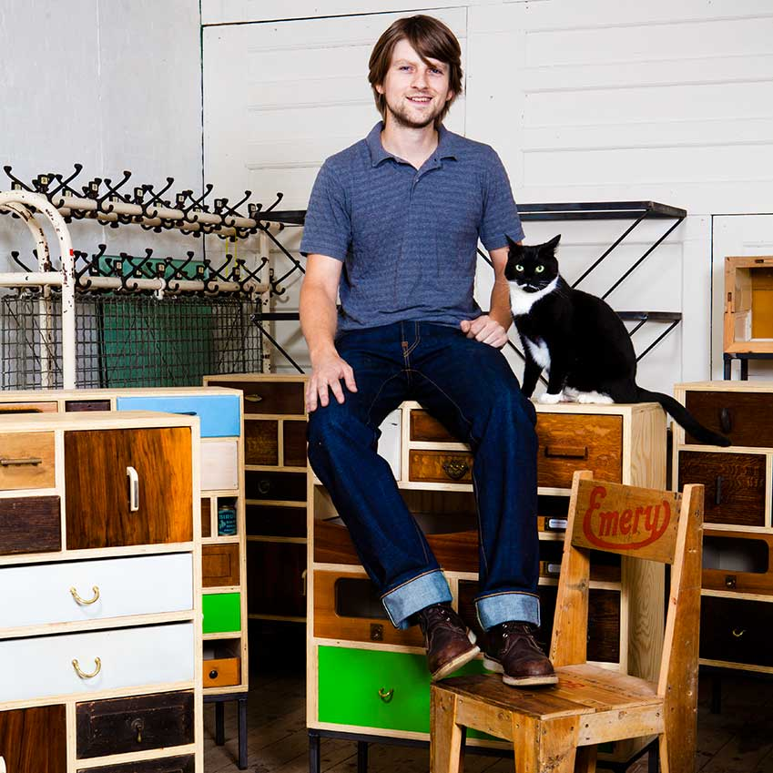 BEST BRITISH PRODUCT DESIGN: 'CHEST OF DRAWERS' BY RUPERT BLANCHARD – This young designer uses mismatched drawers – taken from a 1960s dressing table and a 1950s science lab desk, say – to create striking hybrid chests (rupertblanchard.com)