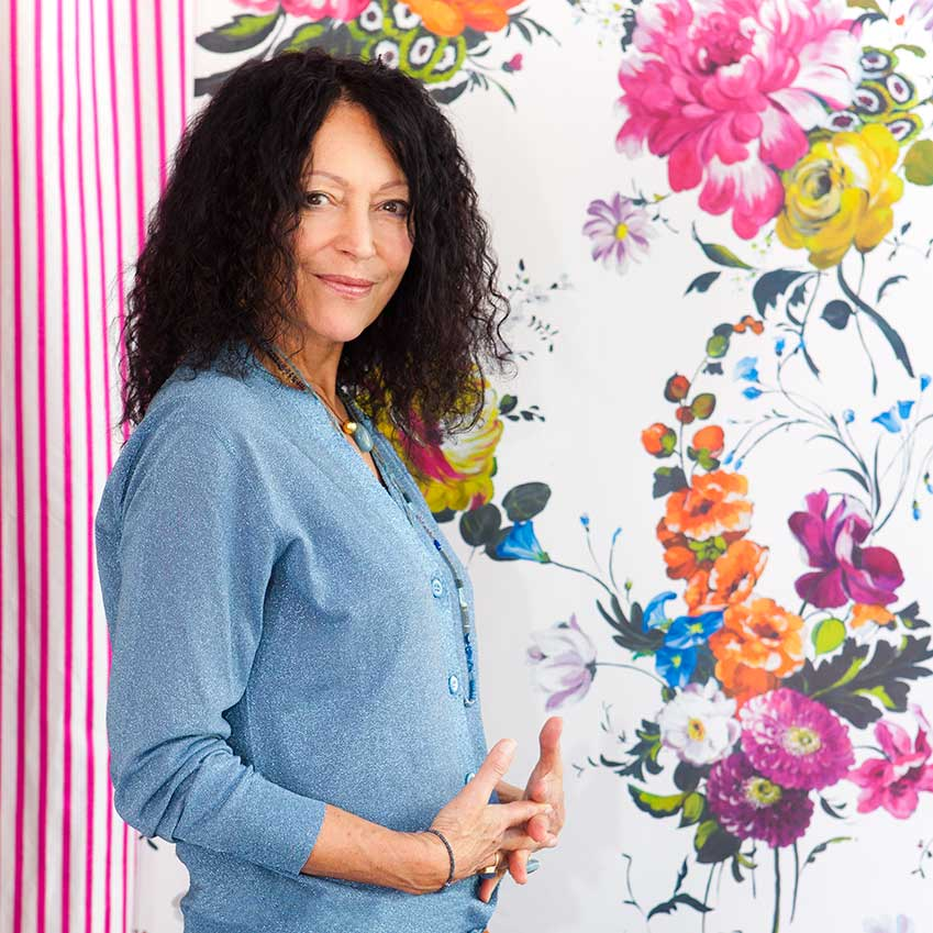 BEST BRITISH DESIGN BRAND: DESIGNERS GULD – Synonymous with extrovert colour and pattern, Designers Guild is going from strength to strength. Not one to rest on its laurels, its panache has remained undimmed since Tricia Guild (pictured) founded it in 1970. Today, from its Chelsea and Marylebone showrooms, it touts its own-brand designs as well as textiles and wallcoverings by such stellar names as Christian Lacroix (designersguild.com)