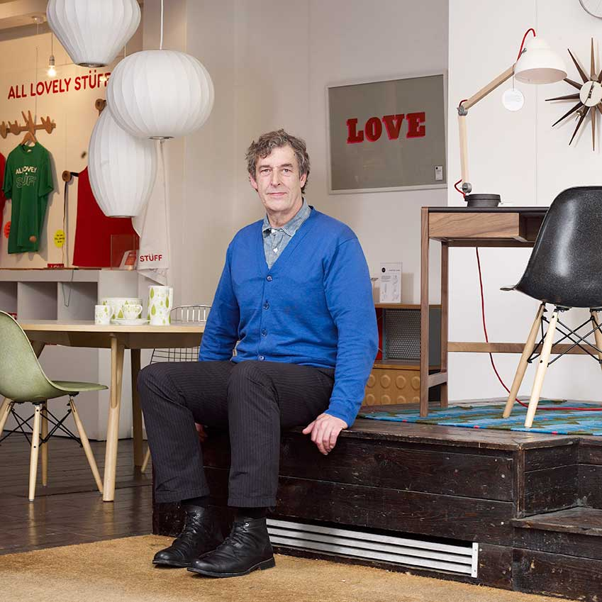 BEST RETAIL INNOVATION: SCP – Not only does SCP manufacture furniture by some of the best names in British design (think Matthew Hilton and Terence Woodgate), it also sells a brilliantly thought-out collection of furniture, accessories and lighting. Pictured is the brand's founder, Sheridan Coakley (www.scp.co.uk)