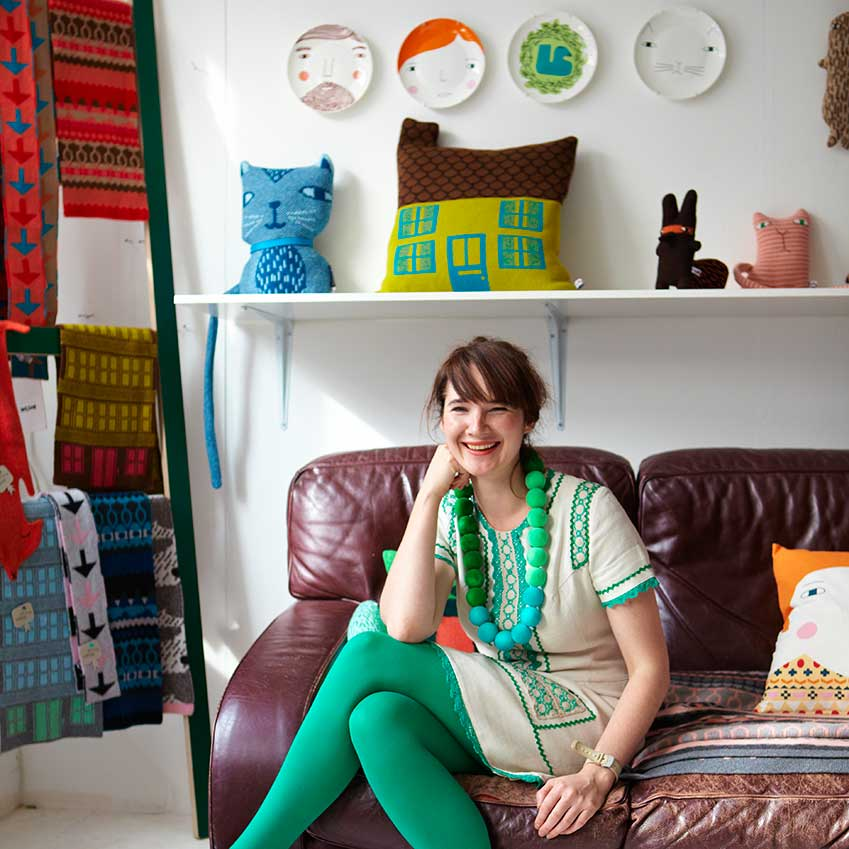 DESIGNER OF THE YEAR: DONNA WILSON –There's no-one quite like textiles queen Donna Wilson. Her fabulous products include colourful cushions, tea-time accessories, playful ceramics and, of course, the starting point for the whole shebang — her collection of curious knitted creatures. In 2010, three new additions to the creature family have won our hearts: bashful 'Wolfie', who collects spoons; 'Peanut', who needs coaxing out of his shell; and 'Puddle Man', who likes to whistle when it rains (donnawilson.com)