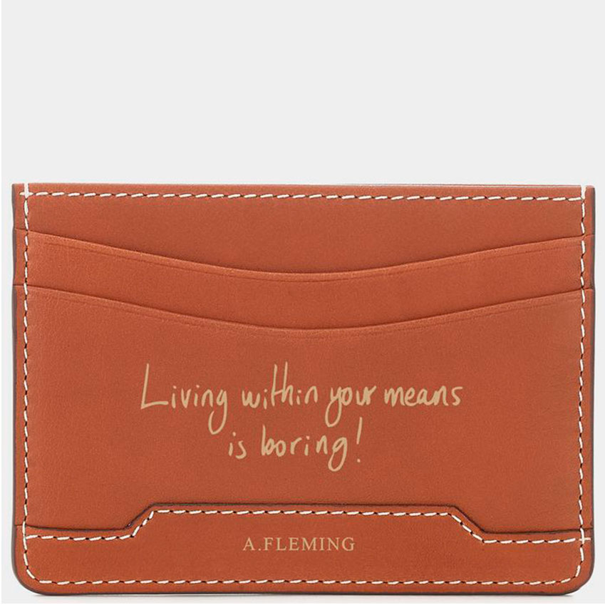 Anya Hindmarch – Add an embossed message or name to any of the brand's luxury full-grain leather accessories. Whatever you choose to write will stand the test of time, as Hindmarch's 'London Grain' embossing pattern is resistant to scratches. From £90 for a keyring (anyahindmarch.com)