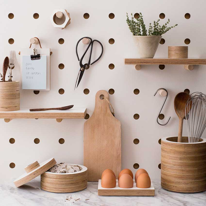 Kitchen Peg Board By Kreis Design