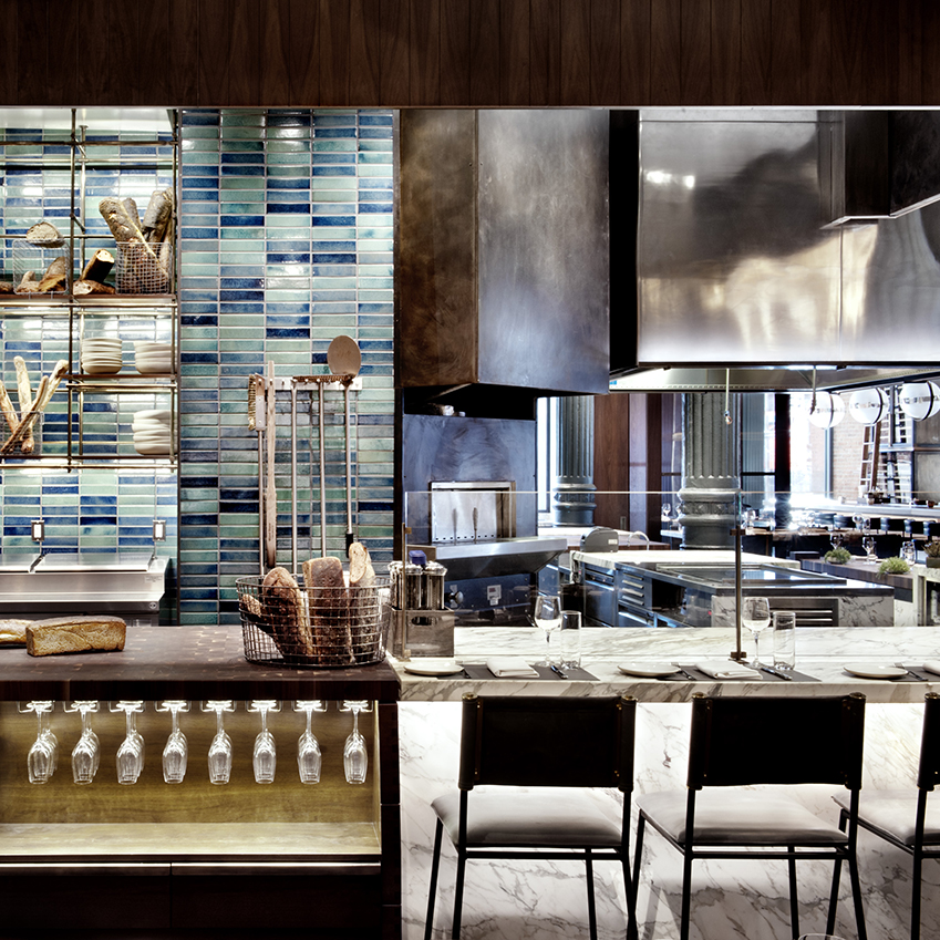 Chef's Club restaurant by Rockwell Group in New York City's NoLiTa