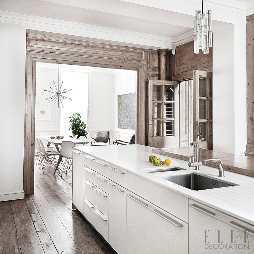 Kitchen design inspiration decoration ideas elle for Kitchen design ideas uk