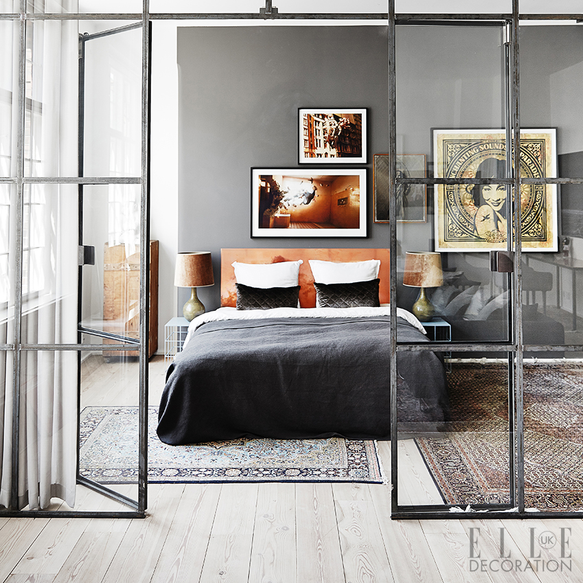 Bedroom design inspiration decoration ideas elle for Interior design bedroom grey