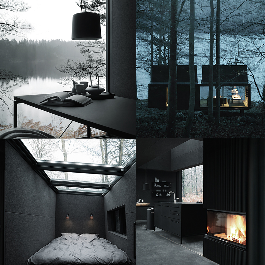 The Vipp shelter, beautiful in black, and with some nice bins too!