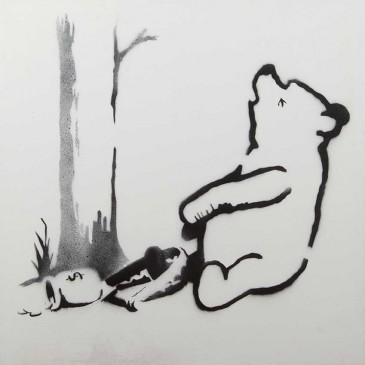 'Winnie the Pooh' by Banksy (2013), exhibited by Haynes Fine Art of Broadway