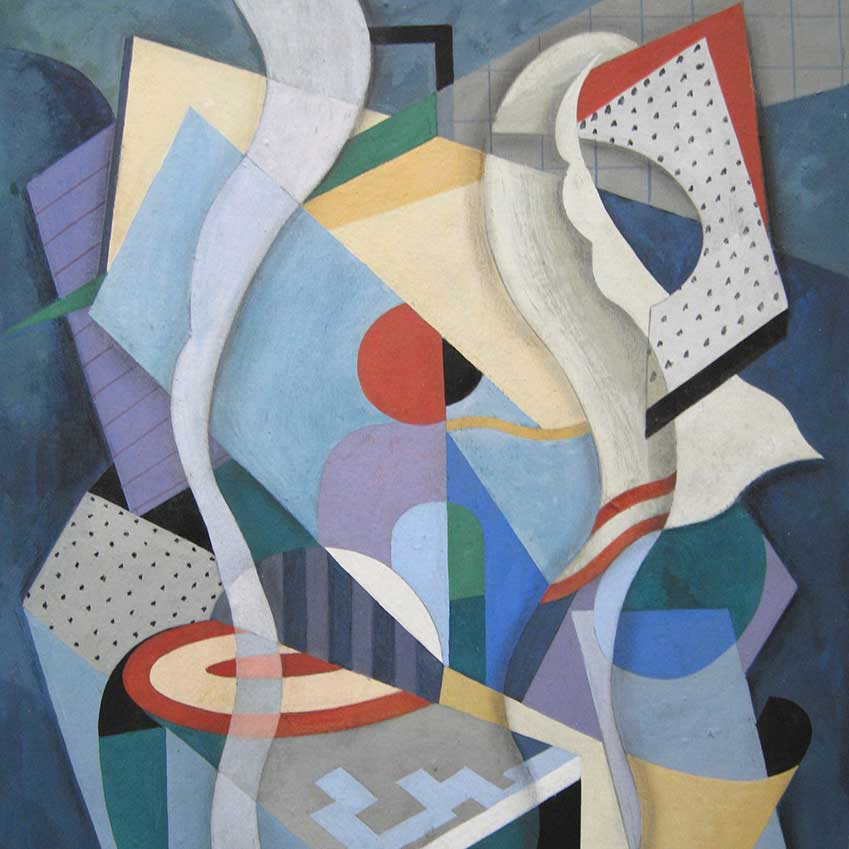 'Composition Abstraite' by Bela de Kristo, exhibited by John Adams Fine Art