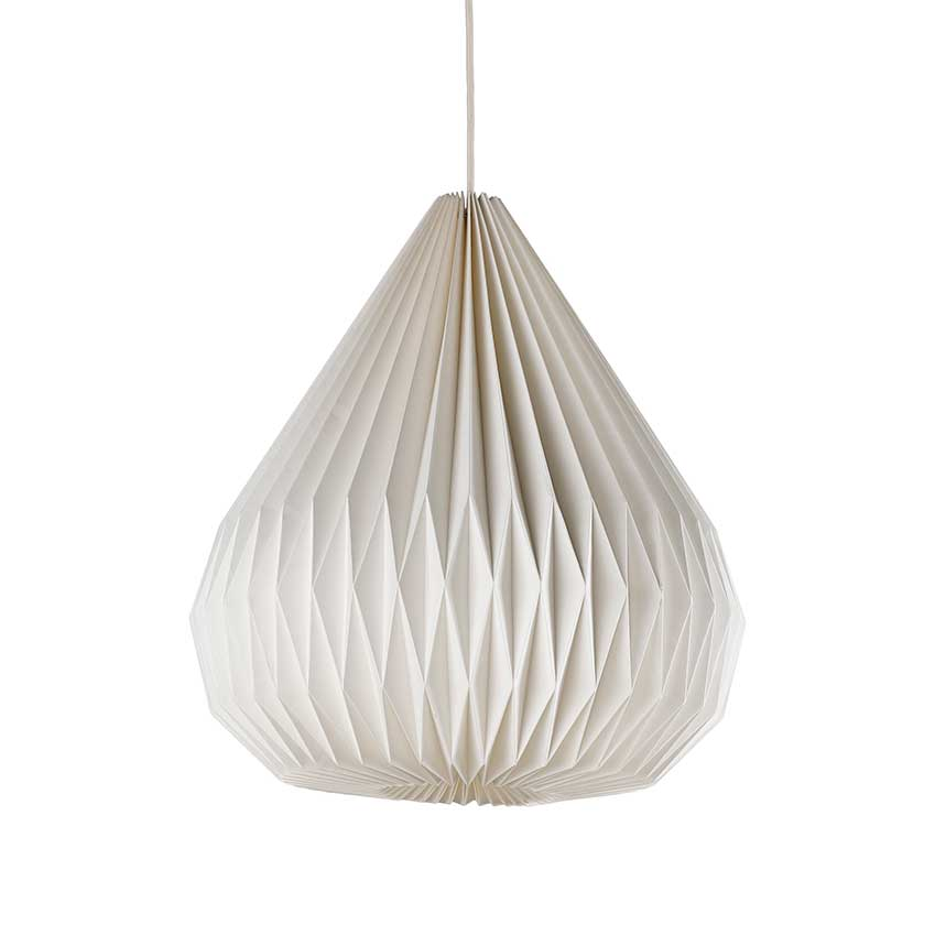 Paper ceiling lamp shades ceiling light ideas marks spencer s folded paper shade elle decoration uk aloadofball Gallery