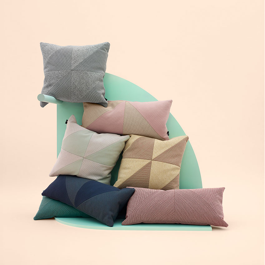 'Puzzle' cushions by Hay (from £67.20 each, Made In Design; madeindesign.co.uk)