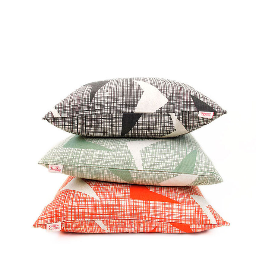 'Airborne' cushions by Skinny La Minx (£27 each, Etsy; etsy.com)