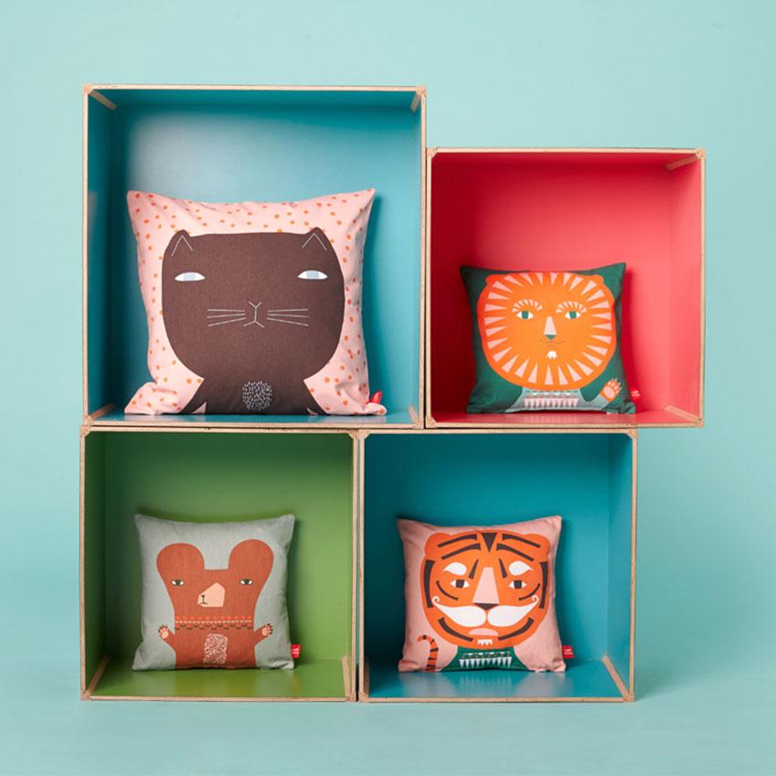 Donna Wilson's 'Mini' cushions (£27.50 each; donnawilson.com)