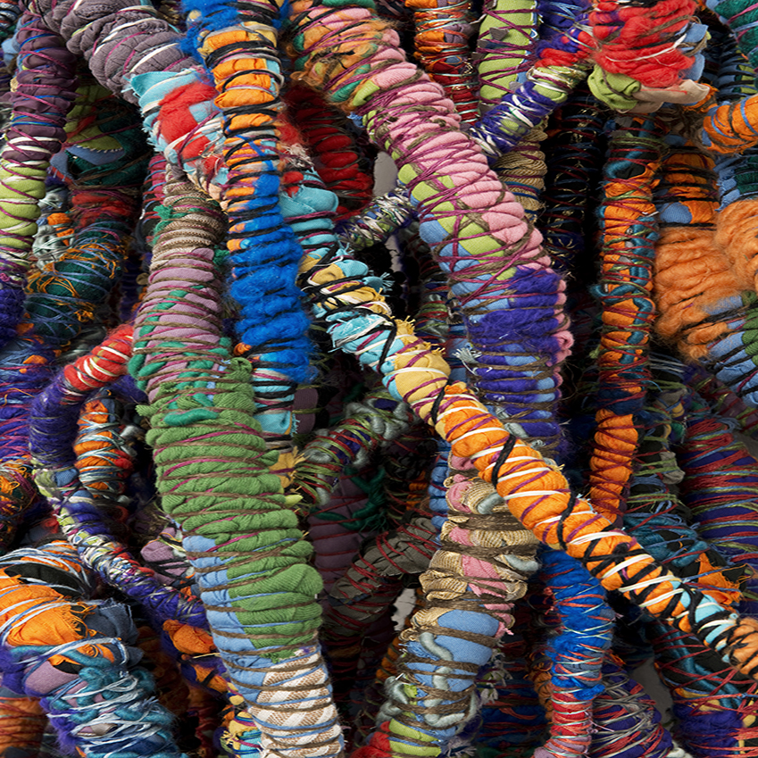 Artist Sheila Hicks at the Hayward Gallery