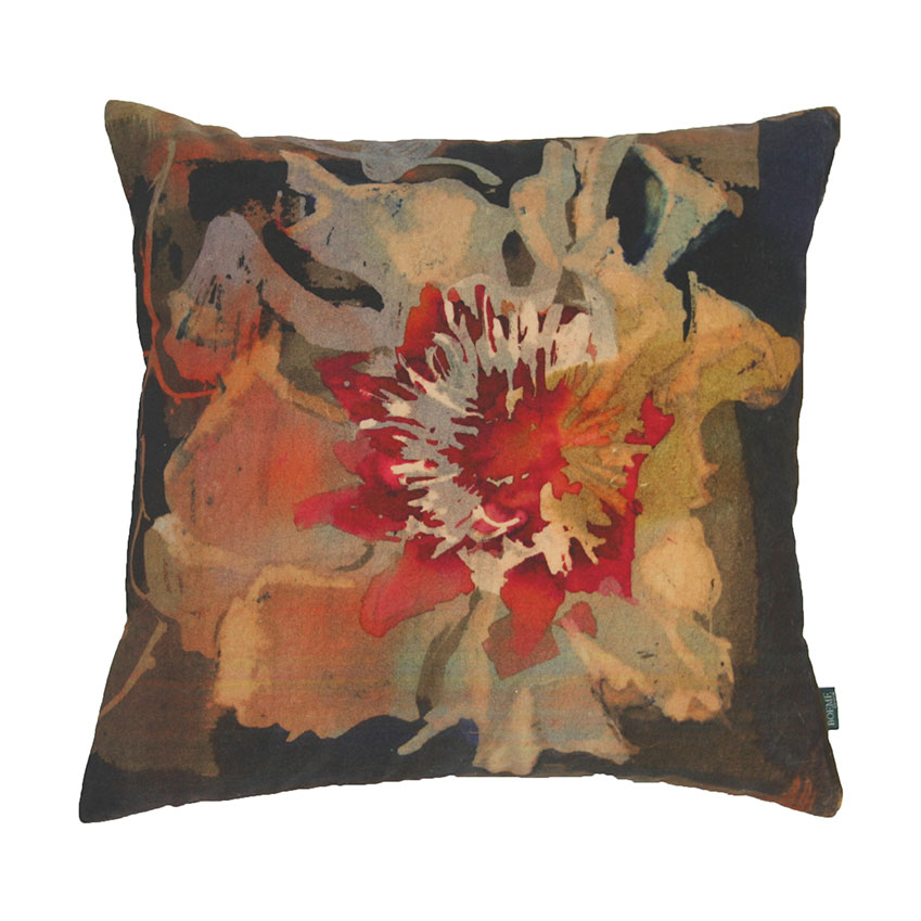 'Poppy' cushion, £75, Boeme (boeme.co.uk)