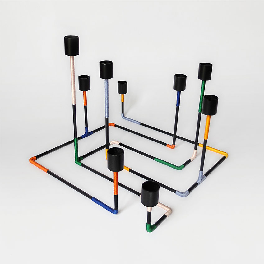 'Bougeoir Labyrinthe' candleholder, £230, Miriam Josi (miriam-josi.com)