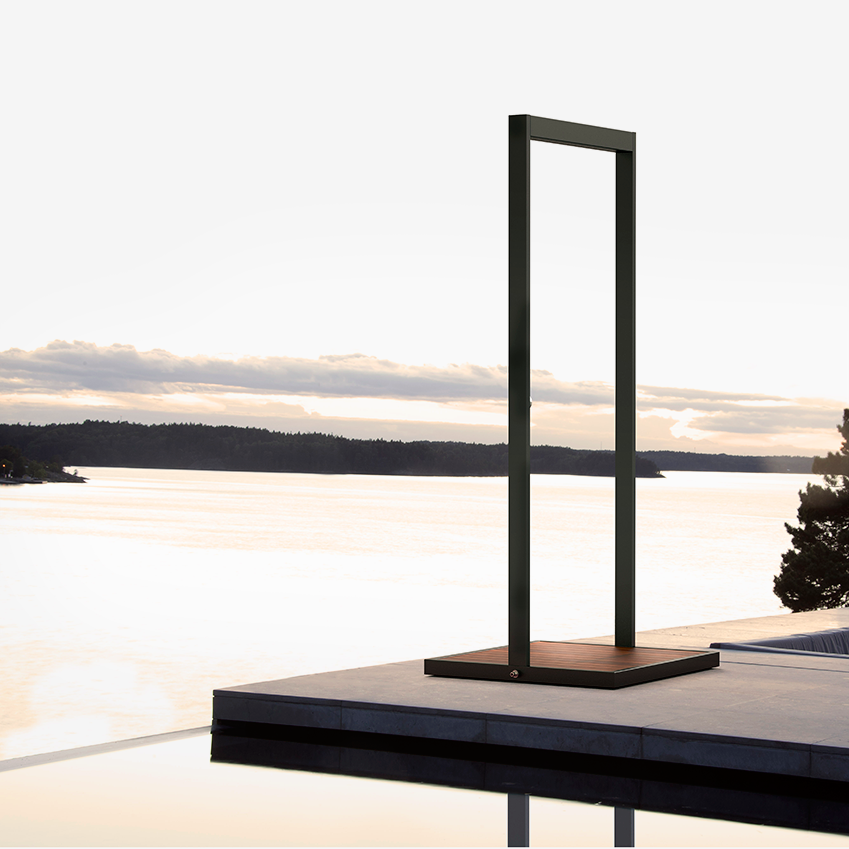 The ultimate contemporary cooler, this outdoor shower by Röshults is slim, sleek, and super-luxurious. £2,679, Lux Deco (luxdeco.com)