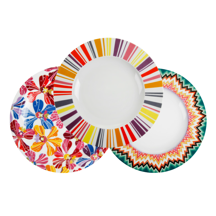 Tableware by Missoni, from £92 for two side plates, Amara (amara.com)