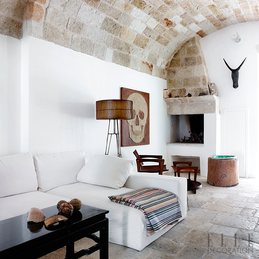 Palazzo Penelope, Italy: Perched on the clifftops of a Puglian fishing village, this stunning coastal escape sleeps up to eight people and has a cool interior that combines ancient Italian craft with modern Scandinavian design. 'When we wake up, we throw open the shutters and are overwhelmed by the morning light and dazzling reflection of the sea,' says owner Pernille Lembcke. From £1,060 a week to hire the full house; it's also possible to rent half the house and one terrace (palazzopenelope.com). Pictures: Wichmann + Bendstsen/Helle Walsted