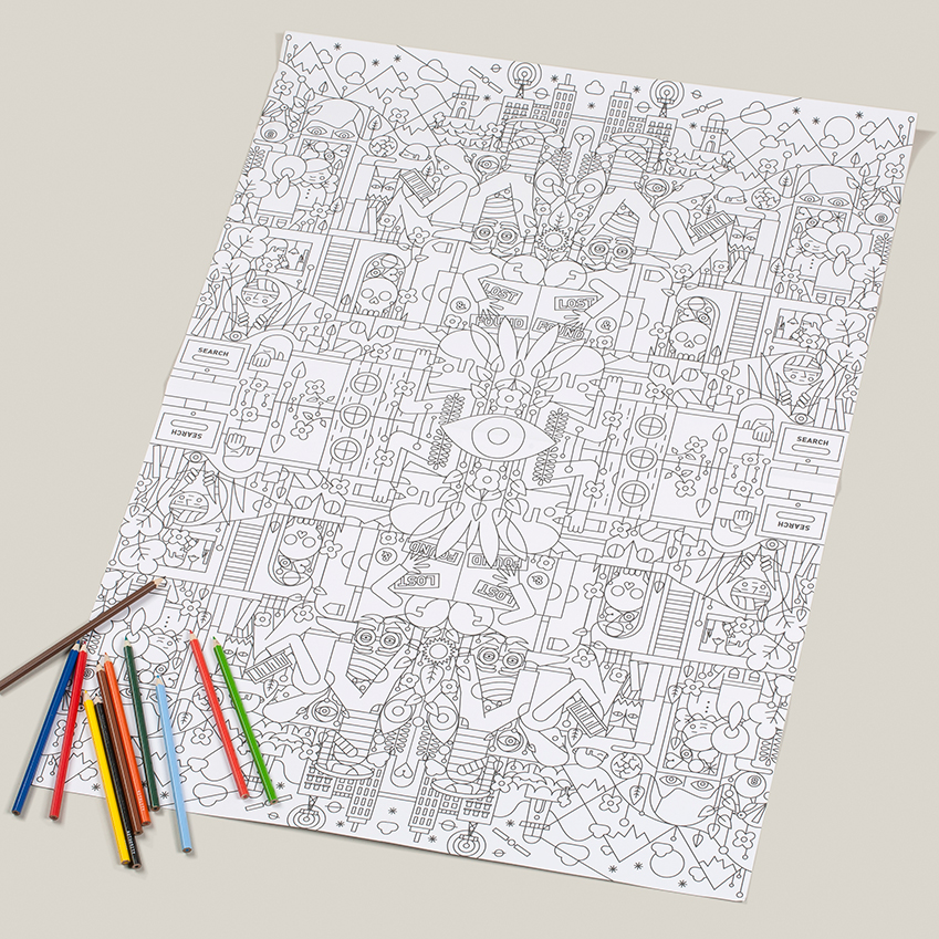 Tate/School of Life colouring posters
