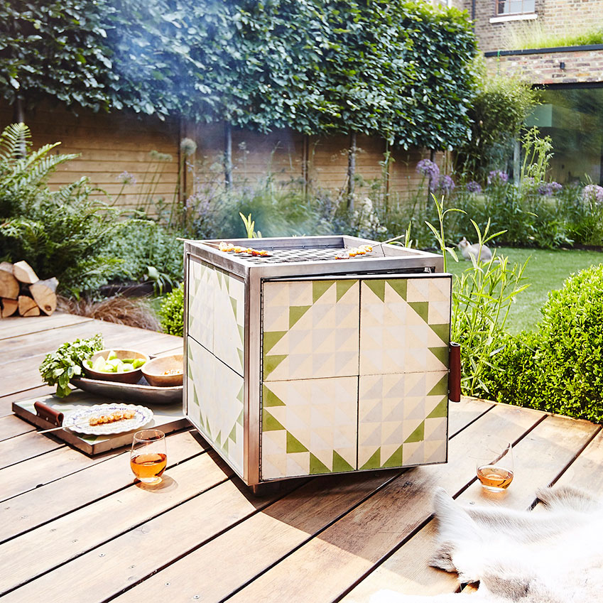 The 'Hot Box' by Bert & May: a tiled fire pit as the result of a collaboration between tile and wood aficionados Bert & May and architects Red Deer. Choose from a variety of tile finishes and two sizes: the 'Little Hot Box' (£250) and the 'Original Hot Box' (£450)