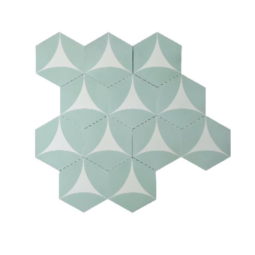 Image 4 of 8: 'Bow' tiles by Claesson Koivisto Rune, £120 per square metre, Marrakesh Design (contemporarytiles.se)