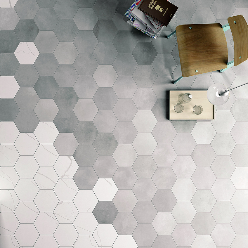 Hexagonal floor tiles uk bathroom design ideas for Mosaic salle de bain