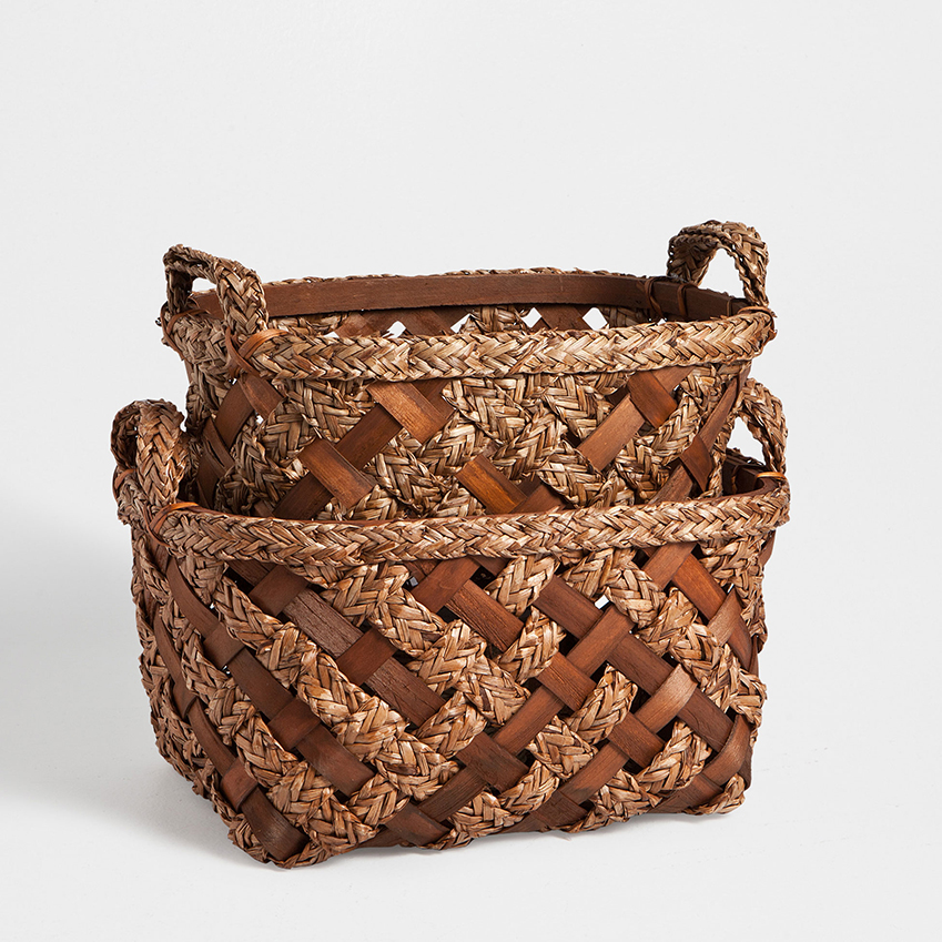 Baskets: Plaited oval baskets, from £25.99 each, Zara Home (zarahome.com)