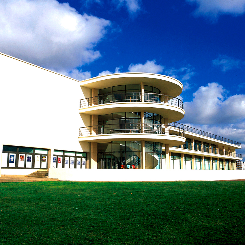 Image 7 of 8: The Grade-I listed De La Warr Pavilion is one of Britain's most iconic works of Modernist architecture. Completed in 1935 and refurbished in 2005, the arts venue is on Bexhill-on-Sea's promenade and plays host to an extraordinary range of art exhibitions, musical performances and film screenings throughout the year.